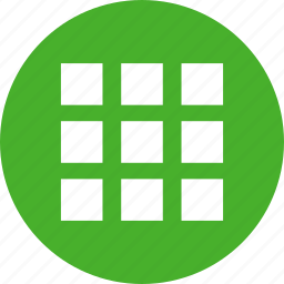 circle, collection, gallery, green, inventory, menu icon