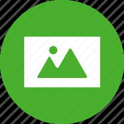 circle, green, image, landscape, photo, photography icon