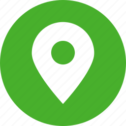 address, circle, green, location, map, marker icon