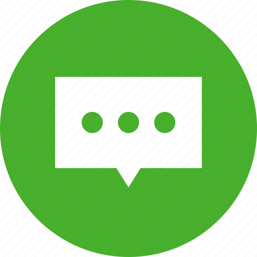 bubble, chat, chat bubble, chat window, communication, green, talk icon