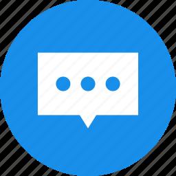 blue, bubble, chat, chat bubble, chat window, communication, talk icon