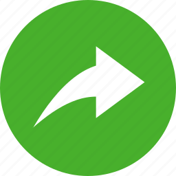 arrow, circle, green, next, reply, respond icon