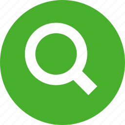 circle, find, glass, green, magnifying, search icon