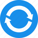 blue, refresh, reload, renew, repeat, retweet, sync icon