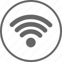 circle, internet, network, signal, wifi icon