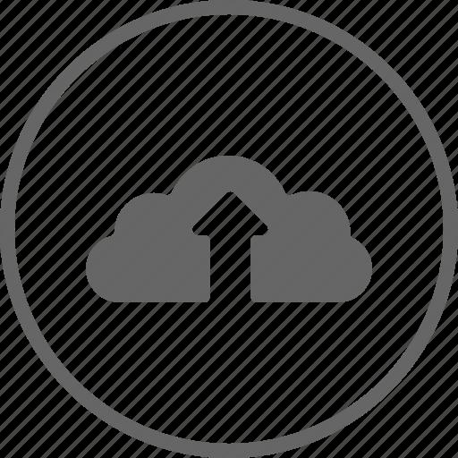 backup, circle, cloud, ftp, storage, upload icon