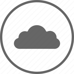 circle, cloud, computing, hosting, services, weather icon