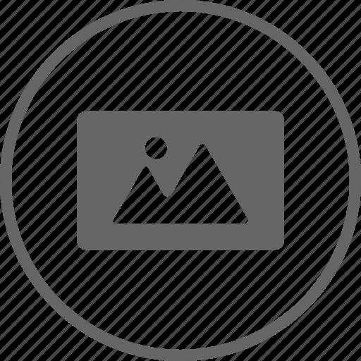 circle, image, landscape, photo, photography, picture icon