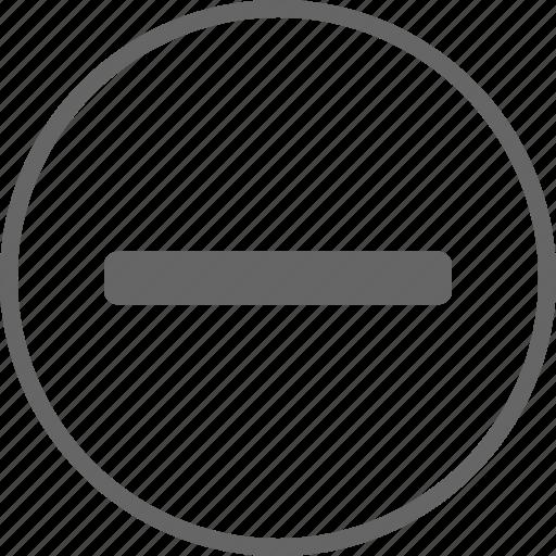 cancel, close, delete, exit, minus, remove icon