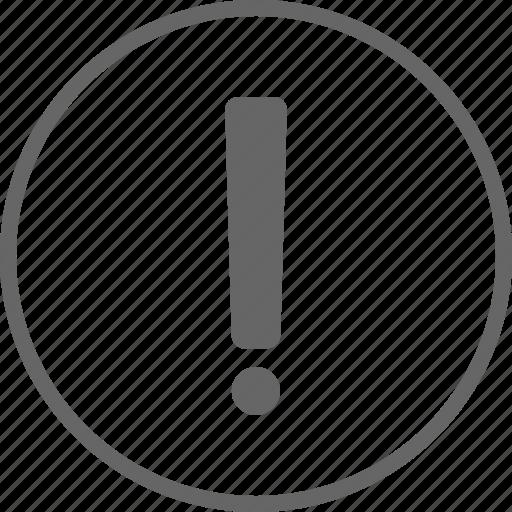 alert, caution, danger, error, exclamation icon