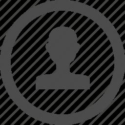 account, avatar, circle, male, profile, user icon