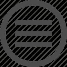 hamburger, items, list, menu, options, stack icon