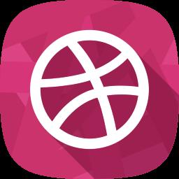 dribbble, portfolio, social network icon