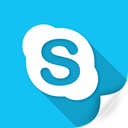 device, logo, skype, technology, telephone, voice icon