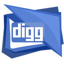 digg, logo, media, social, square icon