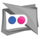 flickr, media, photo, social, square icon