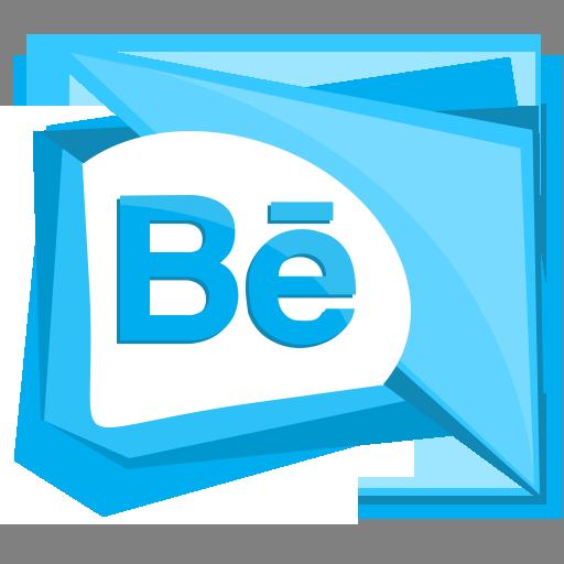 behance, logo, media, portfolio, social icon
