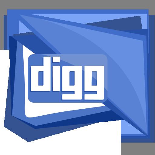digg, logo, media, social, square icon