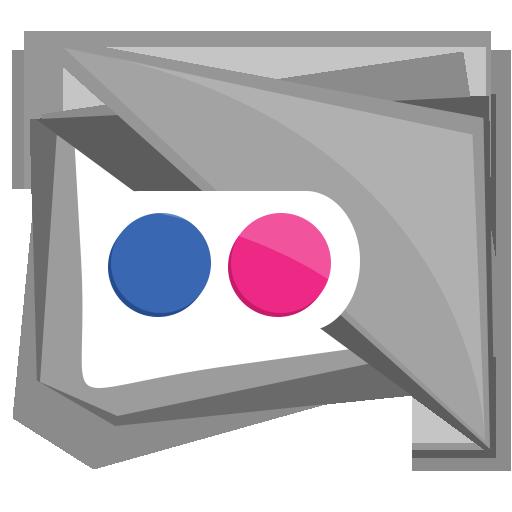 flickr, media, photo, social, square icon