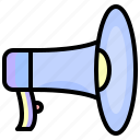 announcement, communications, announce, shout, loudspeaker, megaphone, announcer