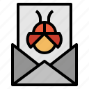 bug, mail icon