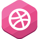 dribbble, portfolio, social network icon