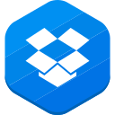 dropbox, file sharing, social network icon