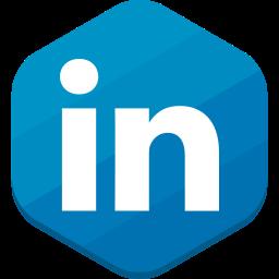 linkedin, professional network, social network icon