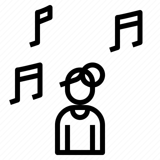 listening, logo, multimedia, video icon