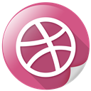 arrow, circle, dribbble, marketing, network, sports icon