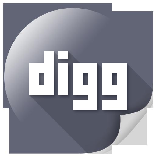 communication, digg, internet, logo, media, message icon
