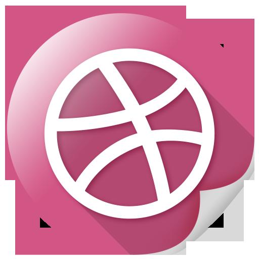 arrow, circle, dribbble, marketing, network, sports icon