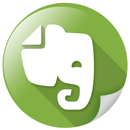 evernote, software, synchronize, text icon