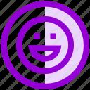 emoji, face, happy, network, smile, social icon
