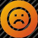 emoji, face, network, sad, social icon