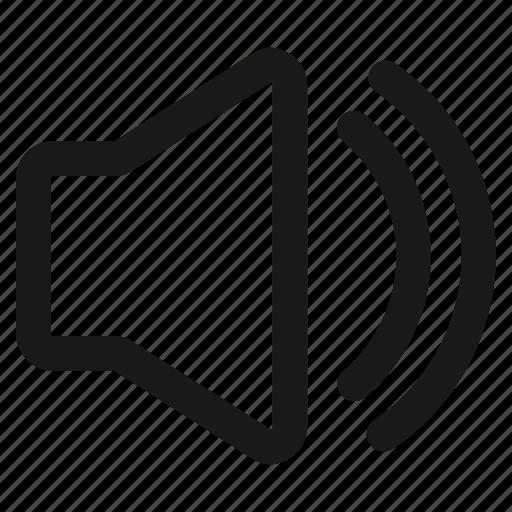 audio, echo, loud, music, radio, sound, volume icon