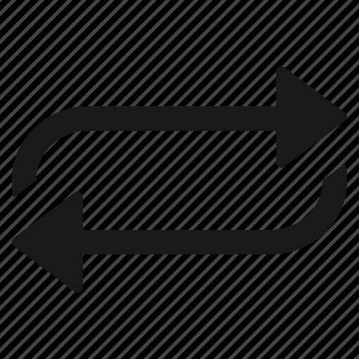 loop, media, refresh, reload, repeat, replay icon