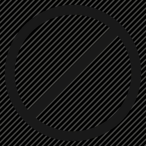 ban, block, blocked, cancel, prevent, private icon