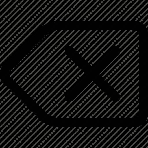 back, backspace, clear, delete, key, remove, text icon