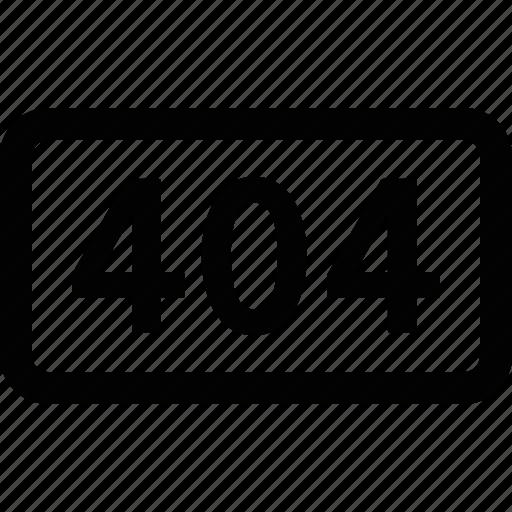 404, broken, error, found, http, not, page icon