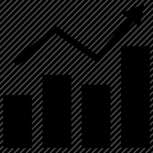 analytics, bar chart, business growth, graph, infographics icon