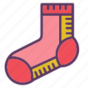 accessories, clothing, feet, foot, shoe, sock, socks icon