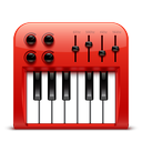 audio, midi, red, soda icon