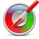 color, picker, red, soda icon