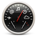 dashboard, red, soda icon