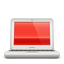macbook, red, soda icon