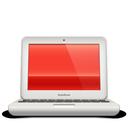 macbook, red, soda
