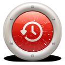 time, machine, red, soda icon