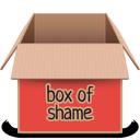 box, red, soda
