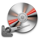hdd, red, soda icon